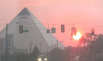 The Pyramid, Memphis, seen from North Parkway