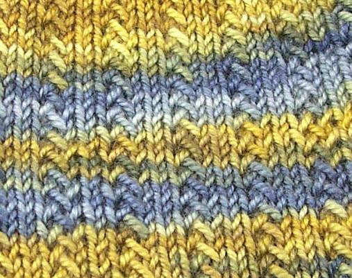 Knitting, with Beads: Herringbone Rib
