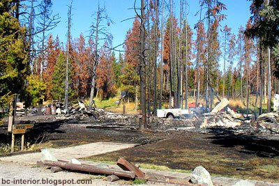 Fire destroys Country Inn Motel in Nimpo Lake