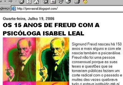 Os 15 anos de Freud...?!