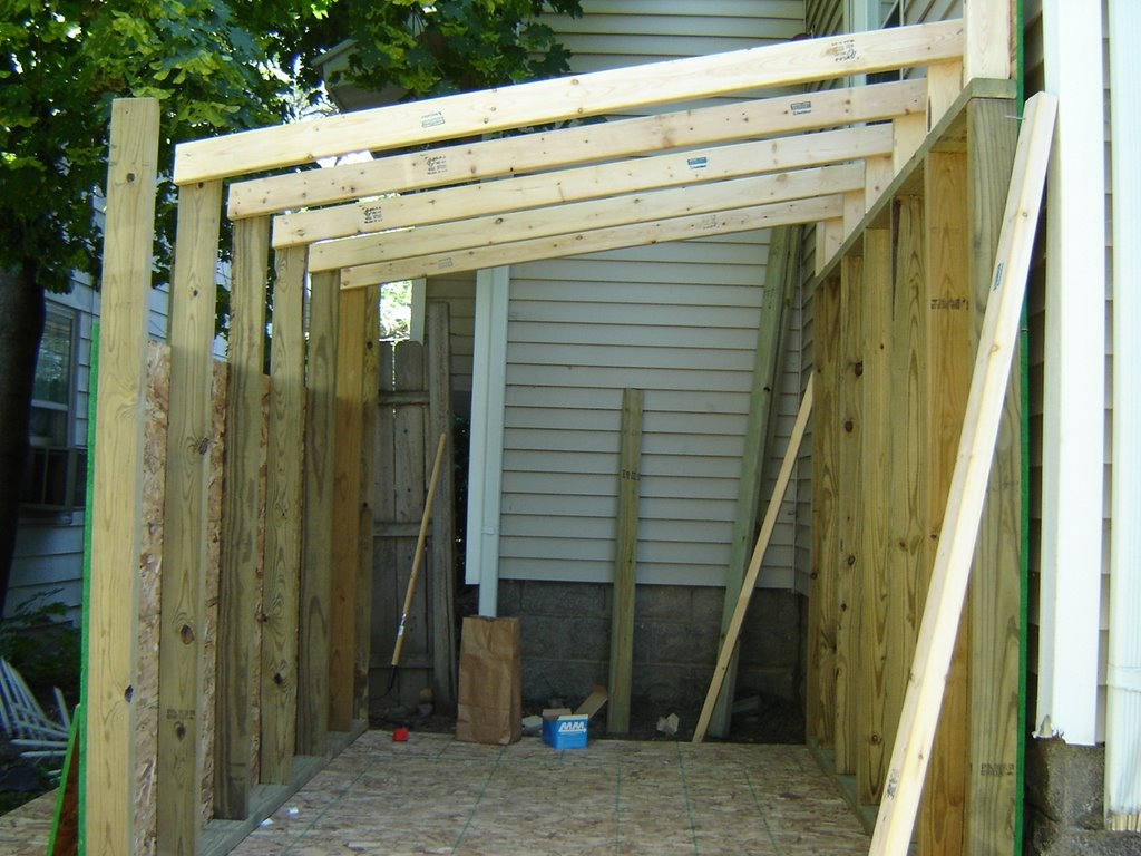 A little bit crazy how to build a backyard shed in 12 for Attach wire to wall