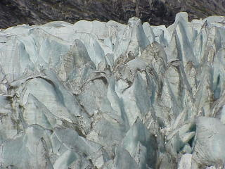 Seracs on a melting glacier