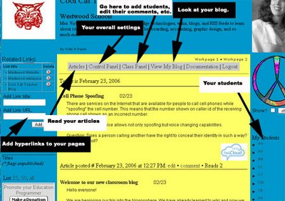 student blogging activity setting your class blog