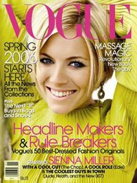 Sienna Miller on the cover of January Vogue. She's the only redeeming feature of this issue!