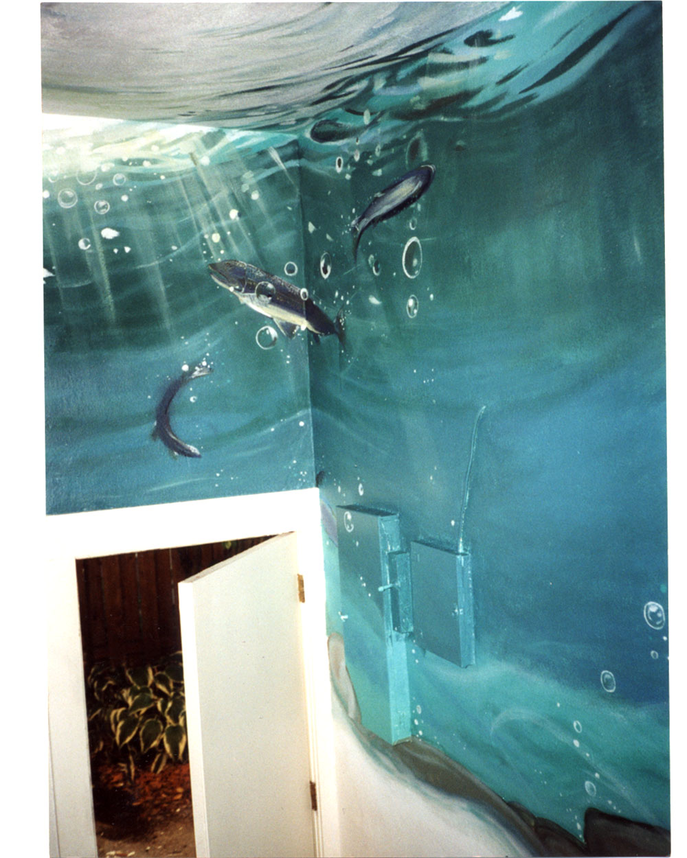 murals and painting pictures from the artful dragonfly s main entry underwater mural