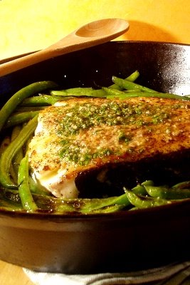 Beyond Salmon: Halibut Basted with Bagna Caoda (Anchovy Garlic Sauce)