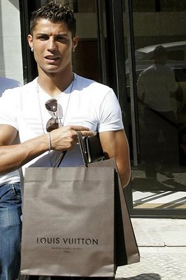 Gay Icon Cristiano Ronaldo - shopping  for Lois Vuitton
