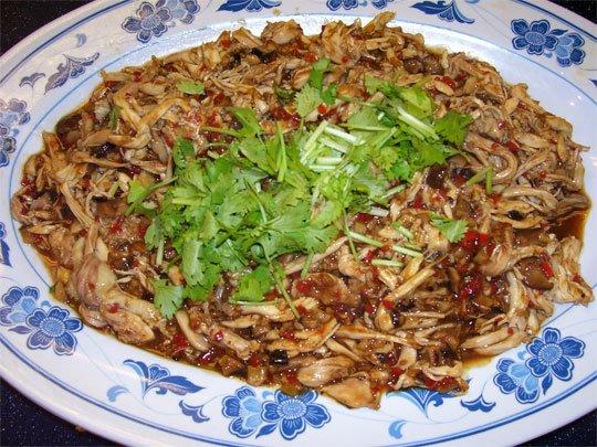culinarydelight crispy beancurd shredded chicken  fish