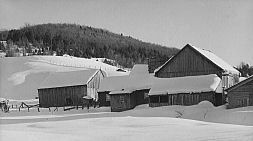 Barn on farm near Fryeburg in 1940