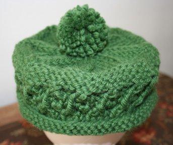 Drop Stitch Knit Hat Pattern : Dropped a Stitch: Green Hat
