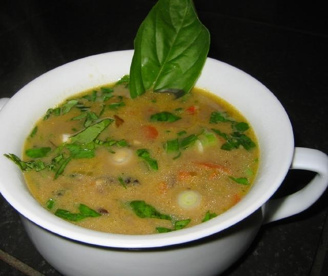 Sara's Kitchen: Thai Basil Coconut Soup