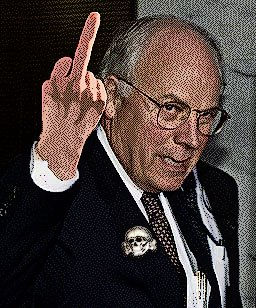Cheney flips the bird-DarkBlack