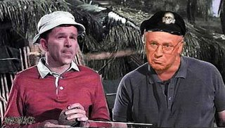 bush and cheney as Gilligan and The Skipper- DarkBlack