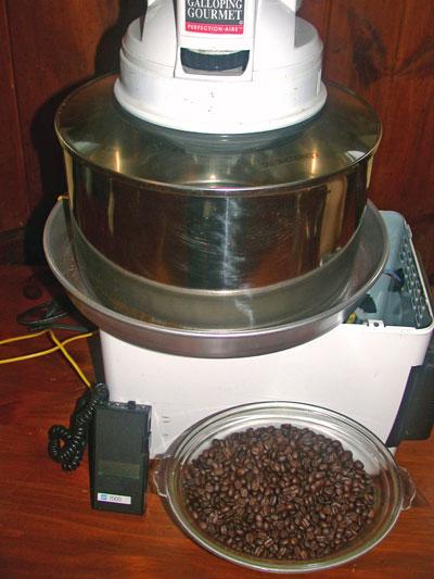 Home Roasting Coffee ~ E cafe amateur home coffee roasting built