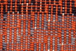 close up of  shadow weave in sock yarns