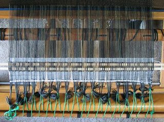 Warp for shadow weave jacket panels.