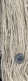 Skein of Suri alpaca yarn.