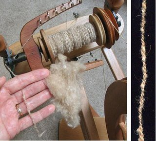 Spinning camel down silk blend fiber