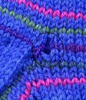 detail of handknit sock gusset