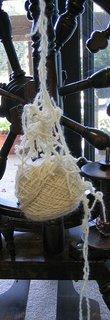 handspun merino silk blend yarn