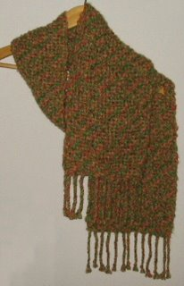 Handwoven shadow weave scarf