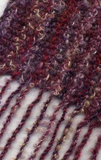 Close up of my handknit scarf.