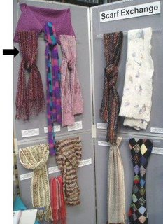 Display of OLG friendship scarves.