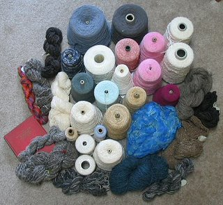 I bid mostly on yarns and books.