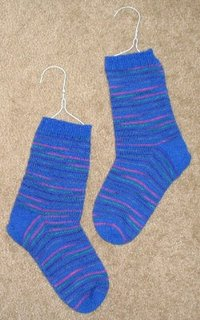 Handknit toe up socks