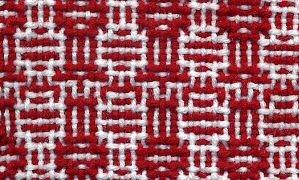 Shadow weave sample