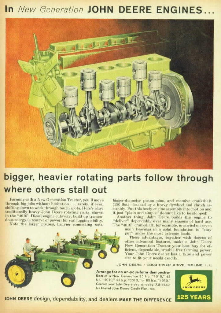 John Deere Tractor Ad : Tim tales original john deere advertisements