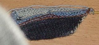 Spitze der 2. Socke