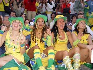 As musas da torcida do Brasil