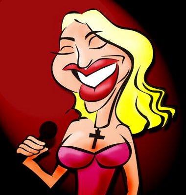 Madonna - caricaturas de cantores