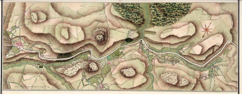 Généralité de Lyon Carte