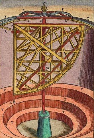 Bibliodyssey tycho mechanica for Tycho brahe mural quadrant