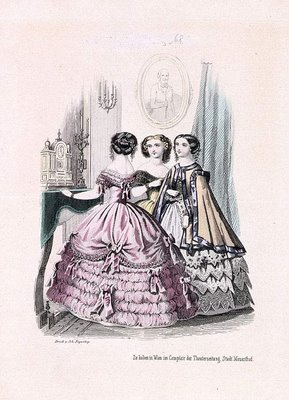 Austrian Theatre Fashion Plate l