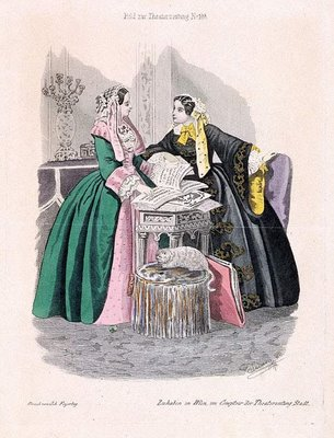 Austrian Theatre Fashion Plate a