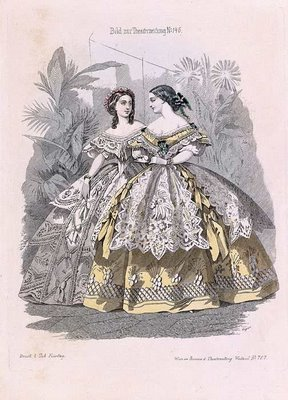 Austrian Theatre Fashion Plate c