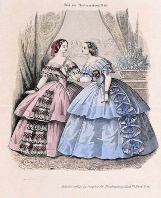 Austrian Theatre Fashion Plate