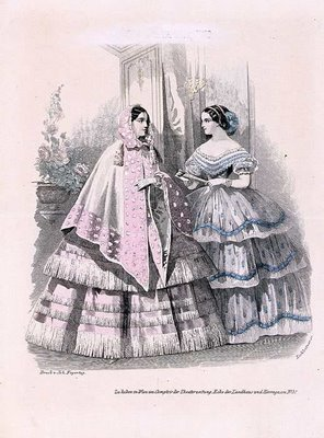 Austrian Theatre Fashion Plate f