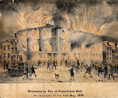 Pennsylvania Hall burning 1838