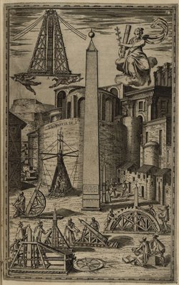 Eight suggested methods for raising the obelisk