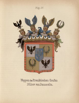 single 19th century german family crest