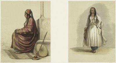 Ghawazi, Arabische Tänzerinnen.