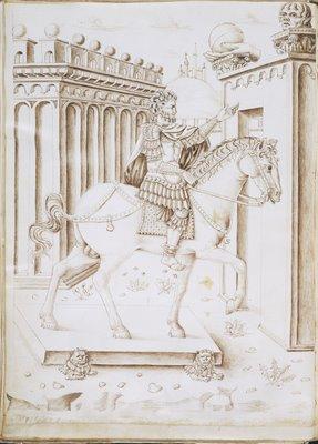 Equestrian statue of the Emperor Marcus Aurelius
