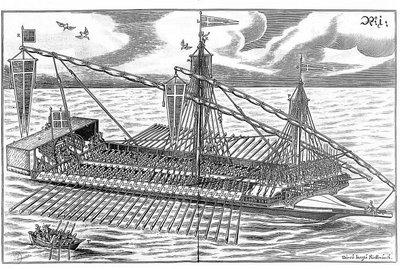vue d'un navire de guerre