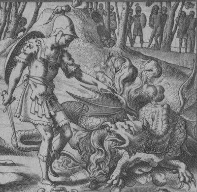 Jason vainqueur du dragon - detail