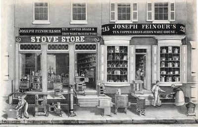 Joseph Feinour & Son stove store 1845