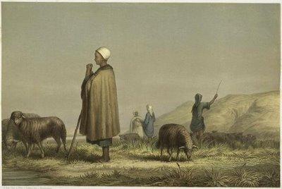 Junge Fellahîn - Hirten bei Beni - Hasan.